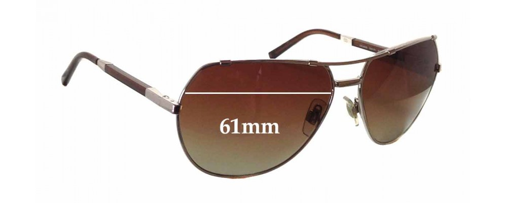 Dolce & Gabbana DG2055 Replacement Sunglass Lenses - 61mm wide