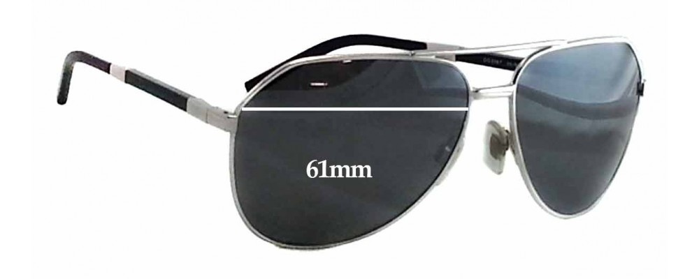 Dolce & Gabbana DG2067 Replacement Sunglass Lenses - 61mm wide