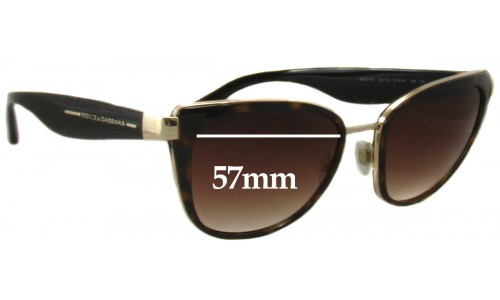Dolce & Gabbana DG2107 Replacement Sunglass Lenses - 57mm wide