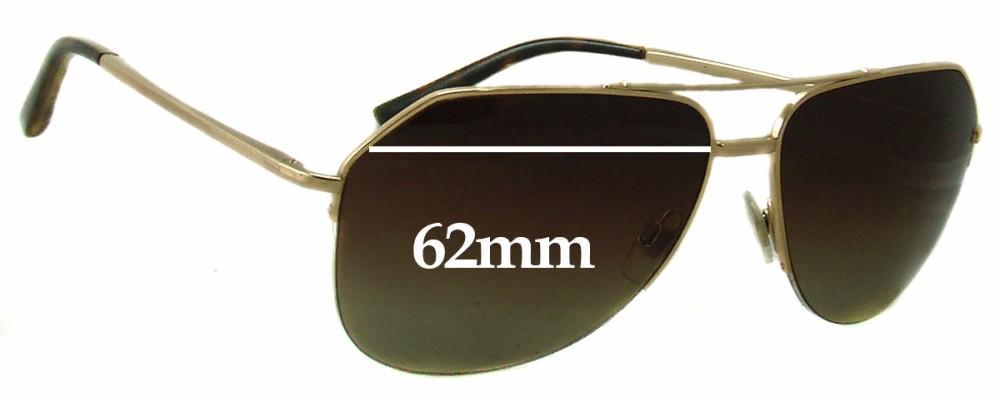 Dolce & Gabbana DG2111 Replacement Sunglass Lenses - 62mm wide