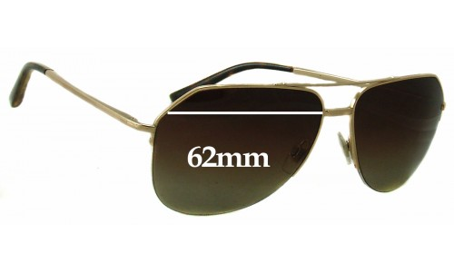 Dolce & Gabbana DG2111 Replacement Sunglass Lenses - 62mm wide