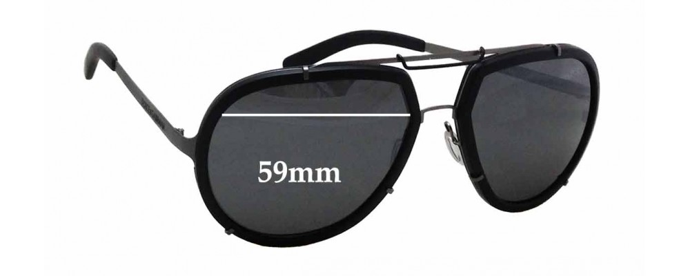 Dolce & Gabbana DG2132 Replacement Sunglass Lenses - 59mm wide