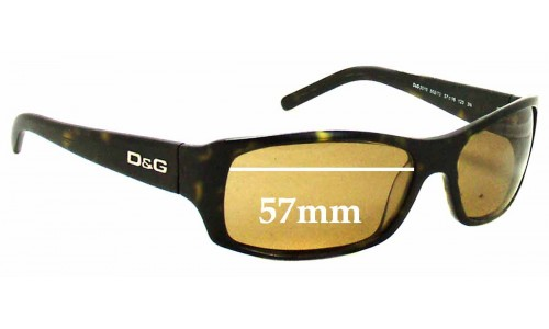Dolce & Gabbana DG3010 Replacement Sunglass Lenses - 57mm Wide