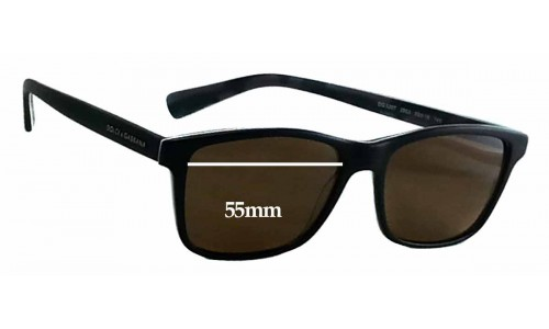 Dolce & Gabbana DG3207 Replacement Sunglass Lenses - 55mm wide