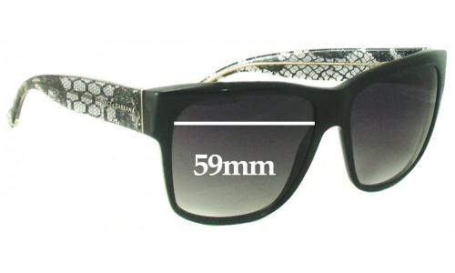 Dolce & Gabbana DG4121 Replacement Sunglass Lenses - 59mm wide