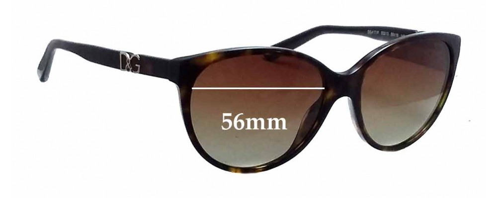 Dolce & Gabbana DG4171P Replacement Sunglass Lenses - 56mm wide