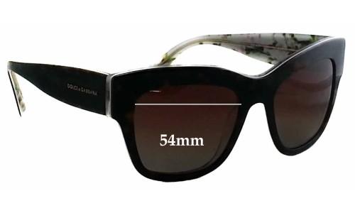 Dolce & Gabbana DG4231 Replacement Sunglass Lenses - 54mm wide