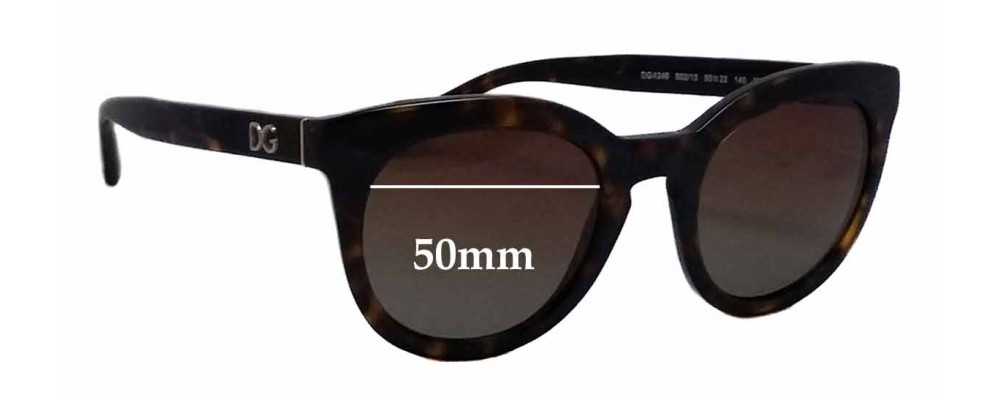 Dolce & Gabbana DG4249 Replacement Sunglass Lenses - 50mm wide
