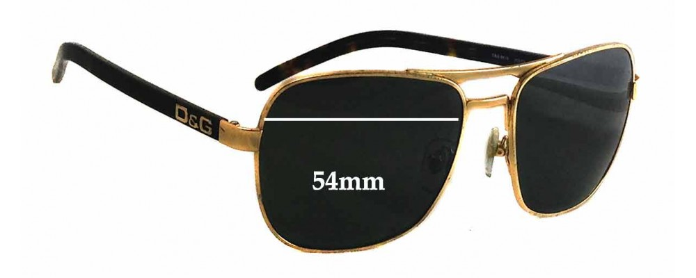 Dolce & Gabbana DG6036 Replacement Sunglass Lenses - 54mm wide