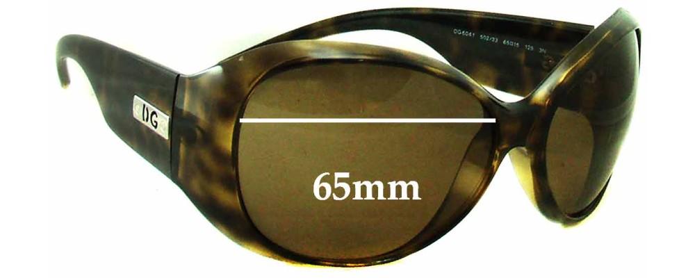 Dolce & Gabbana DG6041 Replacement Sunglass Lenses - 65mm Wide