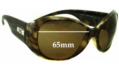 Sunglass Fix Replacement Lenses for Dolce & Gabbana DG6041 - 65mm Wide
