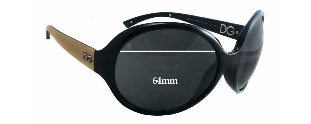 Dolce & Gabbana DG6043 Replacement Sunglass Lenses 64mm wide - 57mm tall