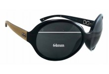 Dolce & Gabbana DG6043 Replacement Sunglass Lenses 64mm wide - 57mm tall