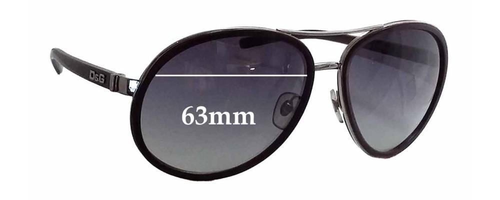 Dolce & Gabbana DG6048 Replacement Sunglass Lenses - 63mm wide