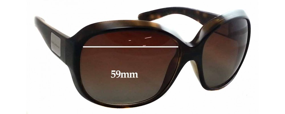 Dolce & Gabbana DG6049 Replacement Sunglass Lenses - 59mm wide