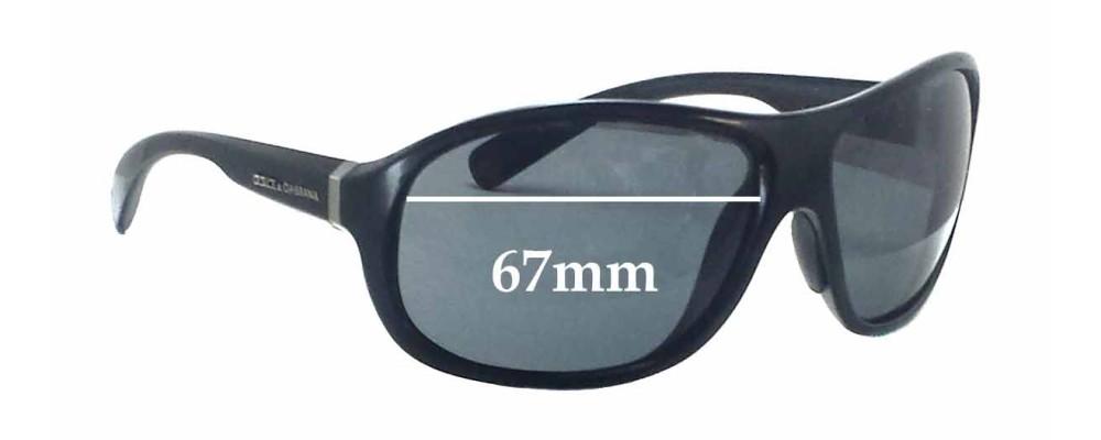 Dolce & Gabbana DG6069 Replacement Sunglass Lenses - 67mm wide