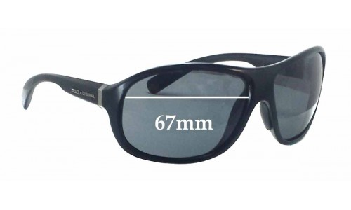 Dolce & Gabbana DG6069 Replacement Sunglass Lenses - 67mm wide
