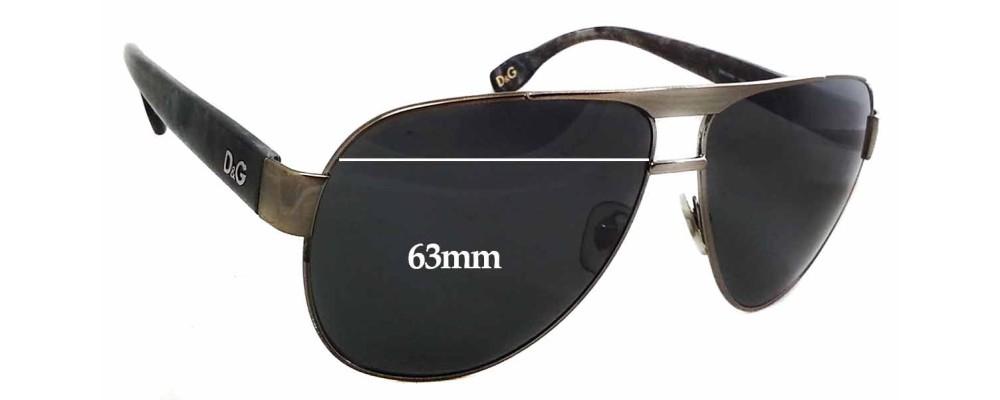 Dolce & Gabbana DG6080 Replacement Sunglass Lenses - 63mm Wide