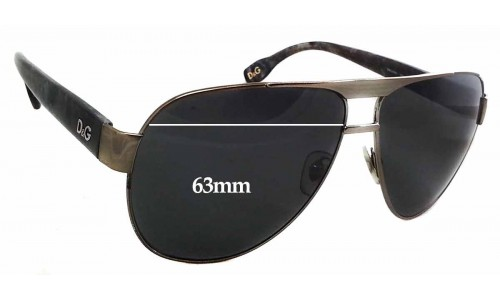 Dolce & Gabbana DG6080 Replacement Sunglass Lenses - 63mm Wide