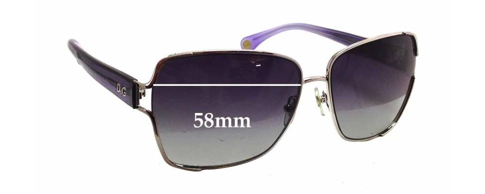 Dolce & Gabbana DG6085 Replacement Sunglass Lenses - 58mm wide x 60mm tall