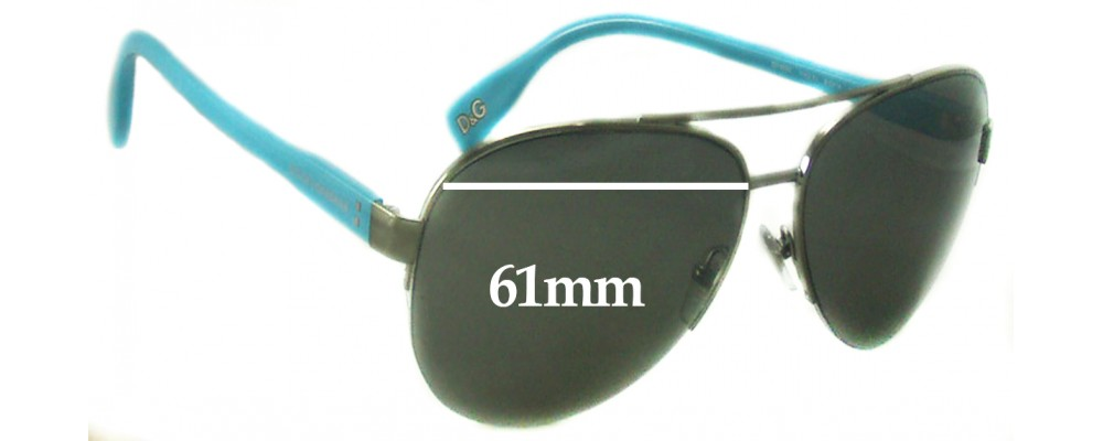 Dolce & Gabbana DG6092 Replacement Sunglass Lenses - 61mm wide