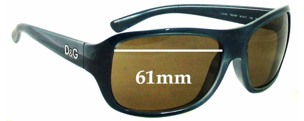 Dolce & Gabbana DG8049 Replacement Sunglass Lenses - 61mm Wide