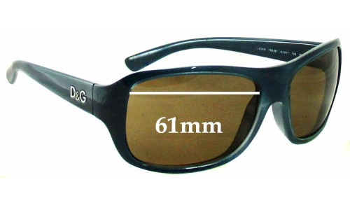 Dolce & Gabbana DG8049 Replacement Sunglass Lenses - 61mm Wide