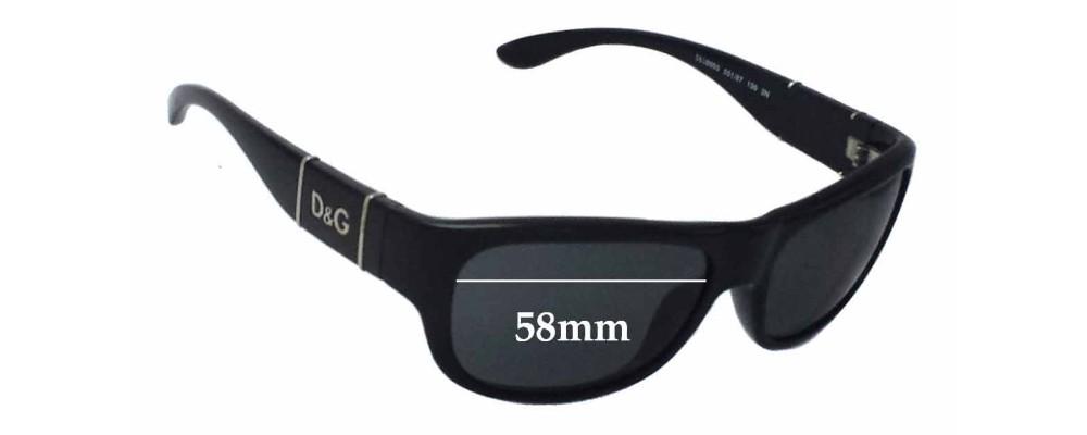 Dolce & Gabbana DG8050 Replacement Sunglass Lenses - 58mm wide