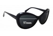 Dolce & Gabbana DG8083 Replacement Sunglass Lenses - 57mm wide x 45mm tall