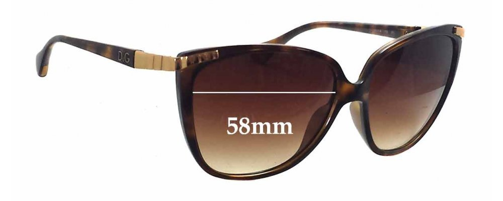 Dolce & Gabbana DG8096 Replacement Sunglass Lenses - 58mm wide