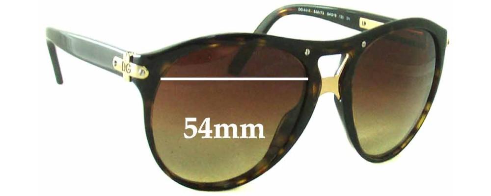 Dolce & Gabbana DG4017 Replacement Sunglass Lenses- 54mm Wide