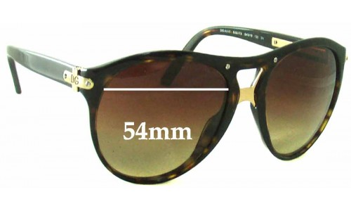 Sunglass Fix Replacement Lenses for Dolce & Gabbana DG4017 - 54mm Wide