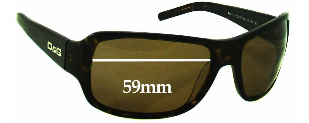 Dolce & Gabbana DG3011 Replacement Sunglass Lenses - 59mm Wide
