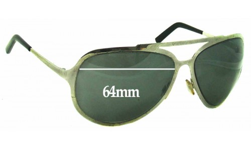 Dolce & Gabbana DG435 S Replacement Sunglass Lenses- 64mm Wide