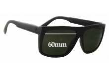 Electric Black Top New Sunglass Lenses - 60mm Wide