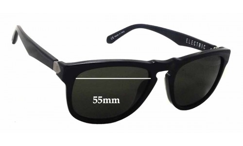 Electric LeadBelly Replacement Sunglass Lenses - 55mm wide - 45mm tall