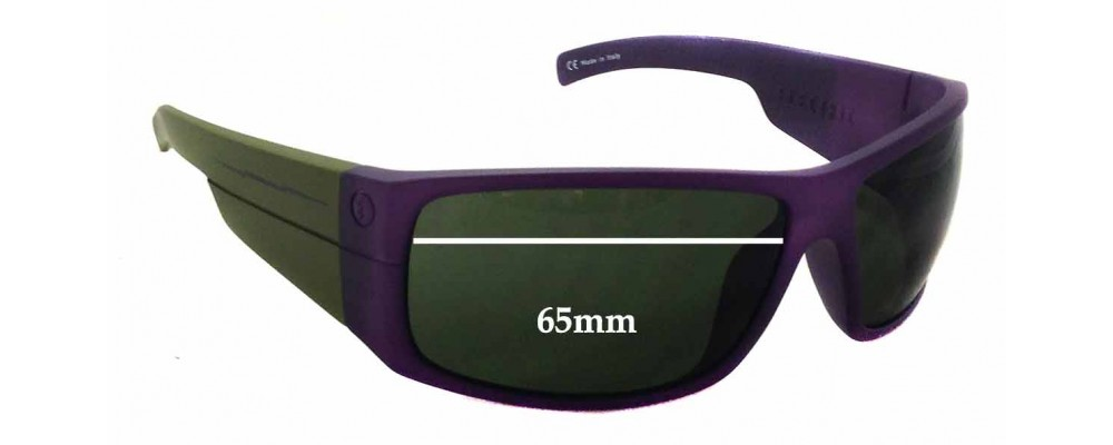 b77dc538b0248 Electric Mud Slinger Replacement Sunglass Lenses - 65mm wide - 42mm tall