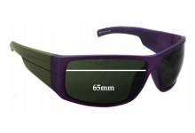 Electric Mud Slinger Replacement Sunglass Lenses - 65mm wide - 42mm tall