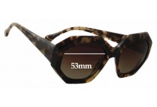 Elizabeth & James Brickell Hexagonal Oversized Replacement Sunglass Lenses - 53mm Wide