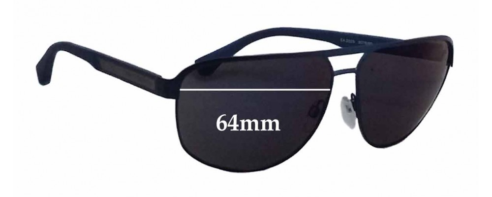 a5b1bc3ac5a171 EMPORIO ARMANI EA2025 Replacement Lenses - 64mm wide   Sunglass Fix