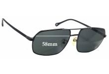 Ermenegildo Zegna SZ 3248 Replacement Sunglass Lenses - 58mm wide