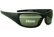 Euro Floating Mako S9290EUB Replacement Sunglass Lenses - 64mm wide
