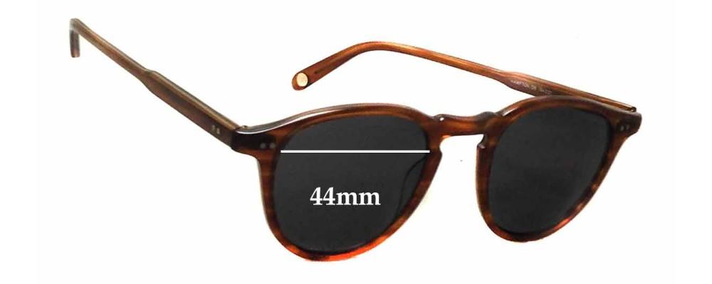 Sunglass Fix Replacement Lenses for Garrett Leight Hampton - 44mm wide