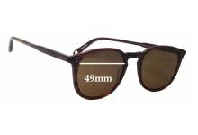 Garrett Leight Kinney Replacement Sunglass Lenses - 49mm wide