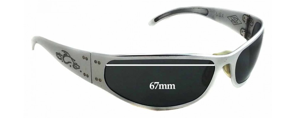 7b15bbc6c0 Gatorz Paul Jr Motorcycle Replacement Sunglass Lenses - 67mm wide - 33mm  tall