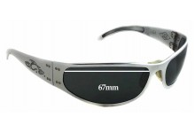 Gatorz Paul Jr Motorcycle Replacement Sunglass Lenses - 67mm wide - 33mm tall
