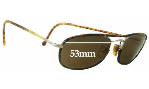 Giorgio Armani GA 649 Replacement Sunglass Lenses - 53mm wide