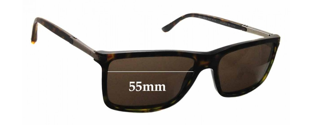 194e8ecb0890 Giorgio Armani AR8010 Replacement Sunglass Lenses - 55mm wide
