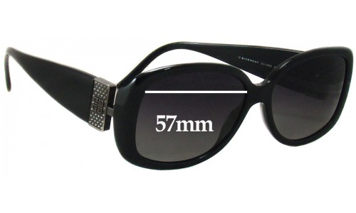 Givenchy SGV690S Replacement Sunglass Lenses - 57mm wide