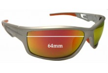 Glarefoil Cantwell Replacement Sunglass Lenses - 64mm wide